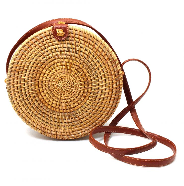 A photo of the Straw Cross Body Purse product