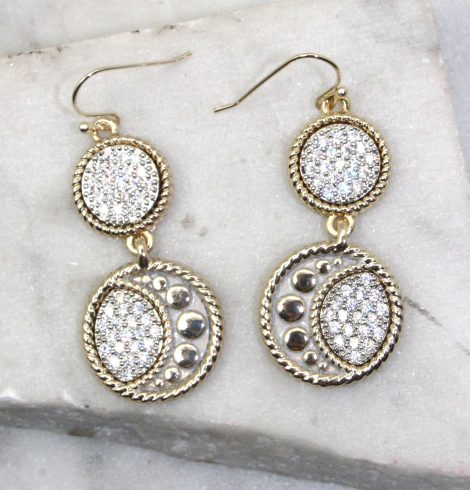 A photo of the The Moon and Stars Earrings product