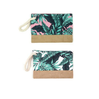 A photo of the Tropical Leaves Wristlet product