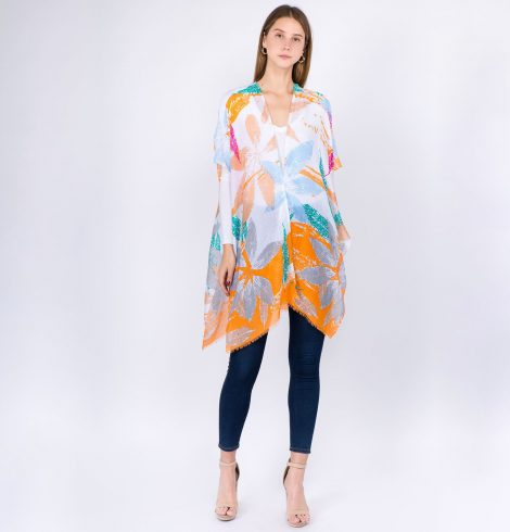 A photo of the Tropical Vibes Kimono product