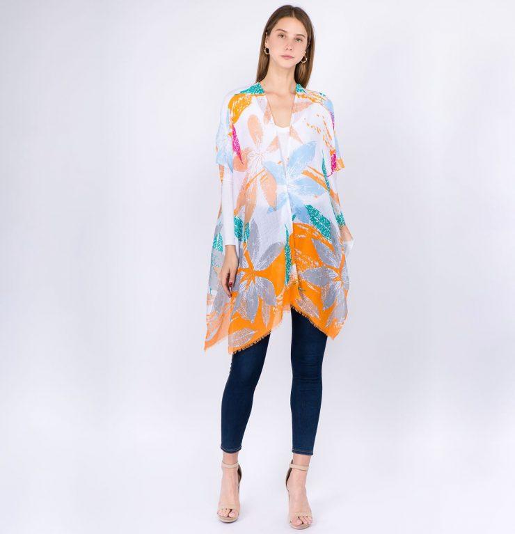 A photo of the Tropical Vibes Kimono product