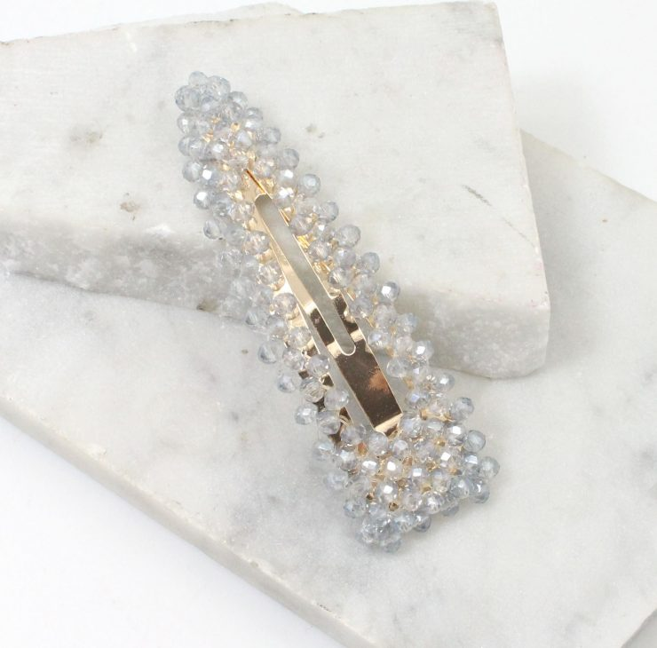 A photo of the Beaded Barette product
