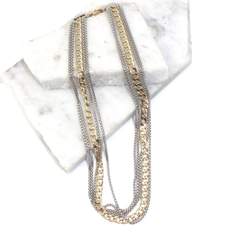 A photo of the Chains and Links Statement Necklace product