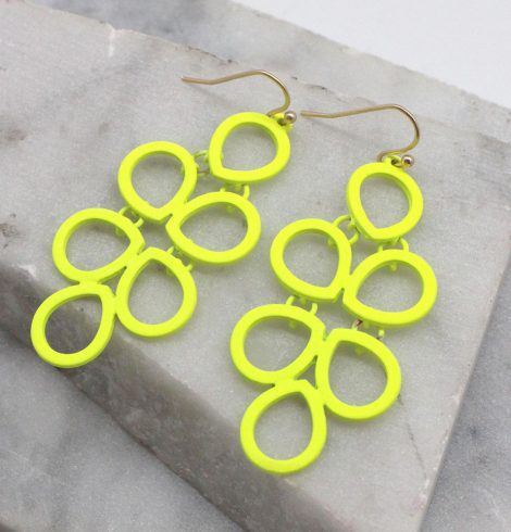 A photo of the Neon Comb Earrings product