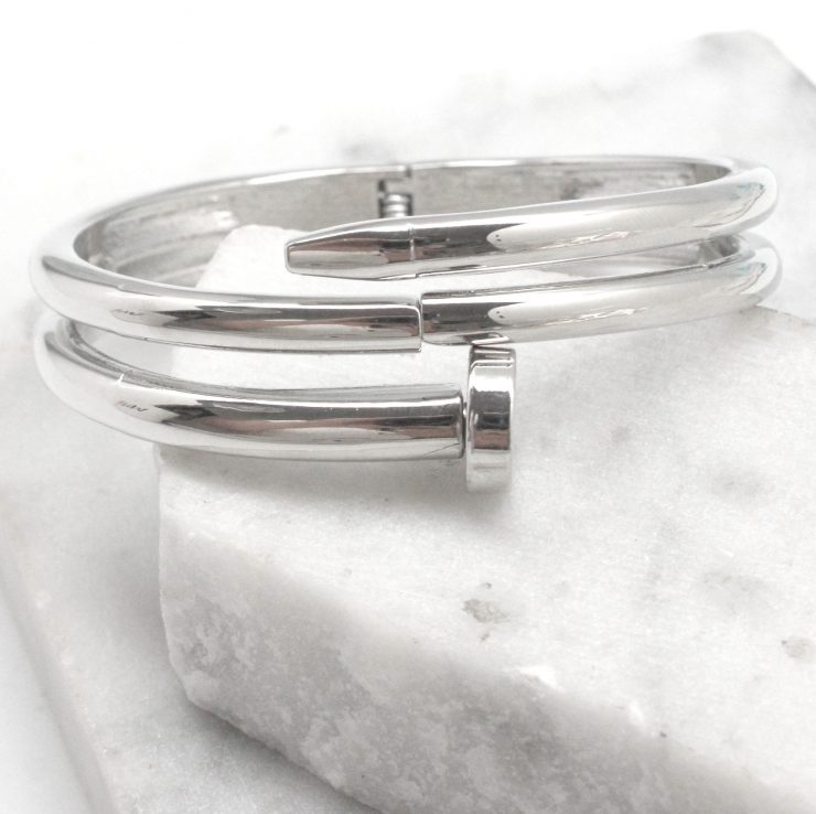 A photo of the Hit the Nail Bracelet in Silver product