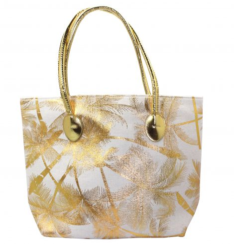 A photo of the Metallic Palms Tote Bag product