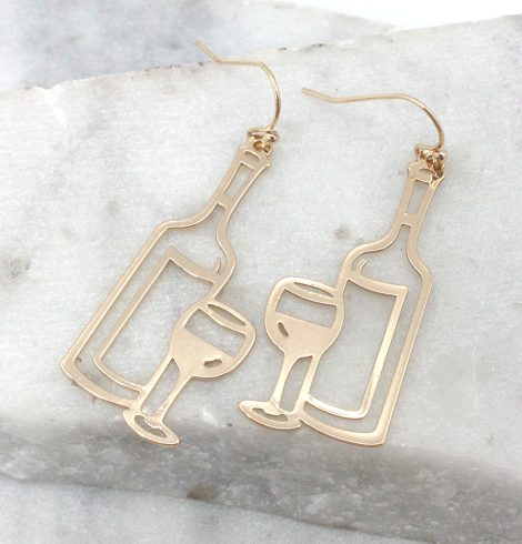 A photo of the One Bottle At A Time Earrings product