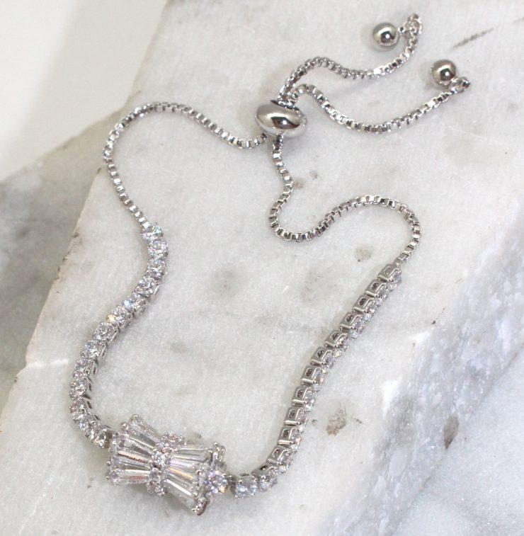 A photo of the Rhinestone Burst Bracelet product