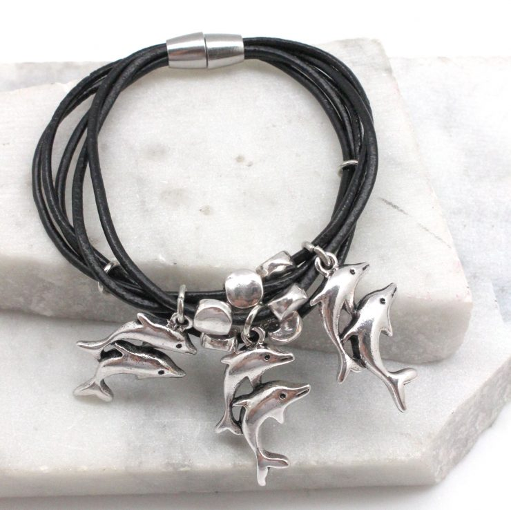 A photo of the Swimming Dolphins Bracelet product
