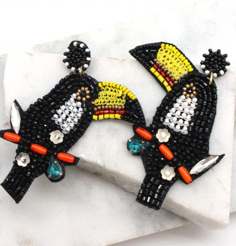 A photo of the Toucan Earrings product