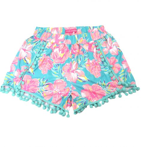 A photo of the Flamingo Pom Pom Shorts product