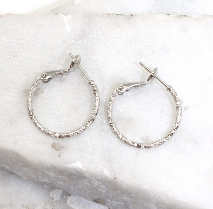A photo of the True Hooplette Earrings product