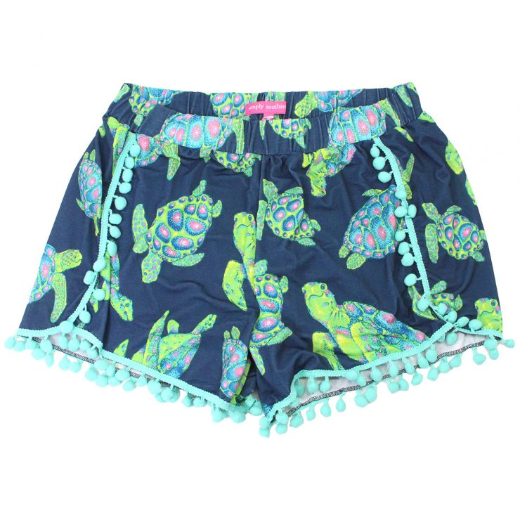 A photo of the Turtle Pom Pom Shorts product