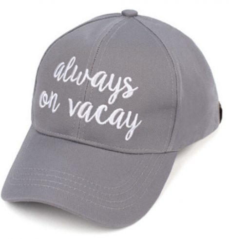 A photo of the Always on Vacay Baseball Cap product