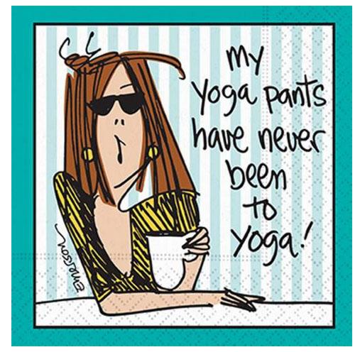 A photo of the Yoga Pants Napkins product