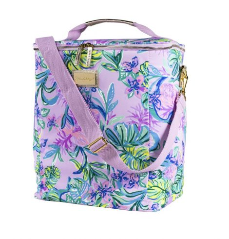 A photo of the Lilly Pulitzer Wine Carrier in Mermaid in the Shade product