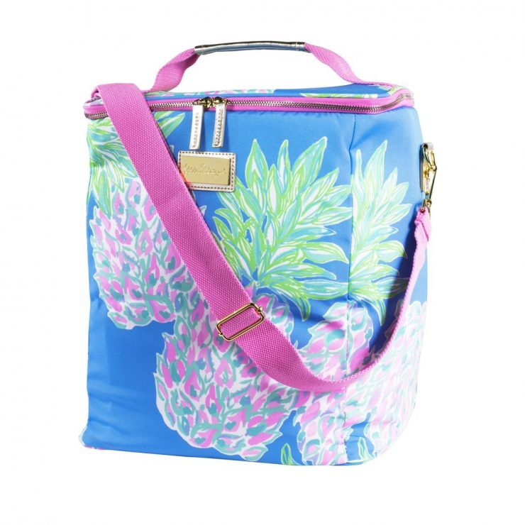 A photo of the Lilly Pulitzer Wine Carrier in Swizzle Out product
