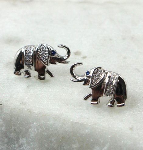 A photo of the Elephant Stud Earrings product