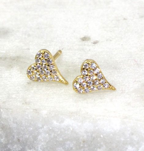 A photo of the Heart of Hearts Stud Earrings product