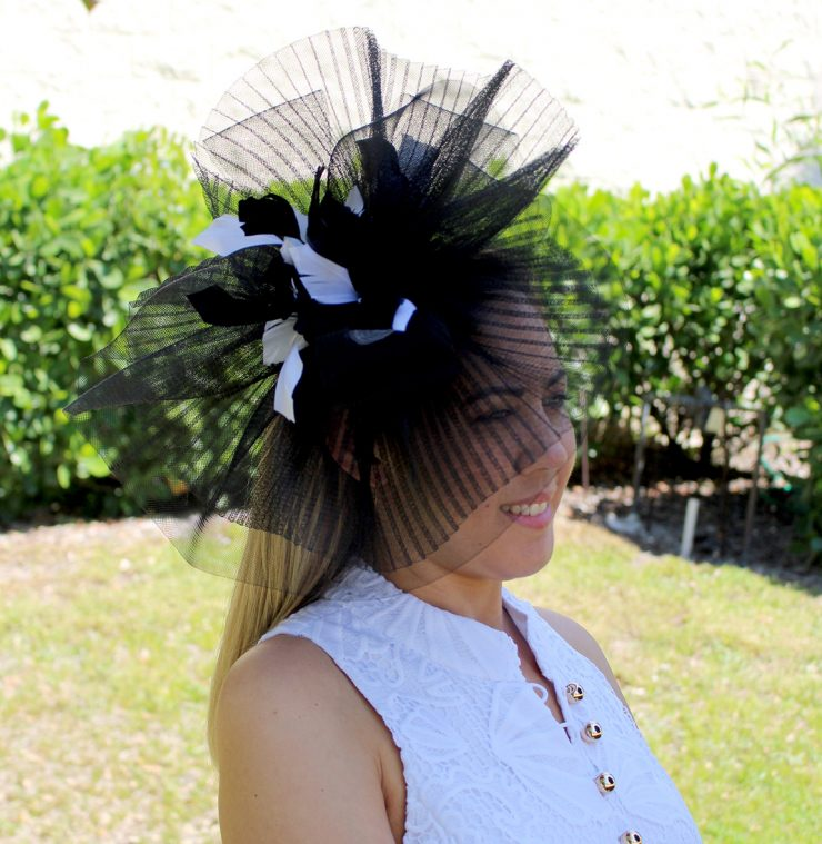 A photo of the Josephine Headband Fascinator product