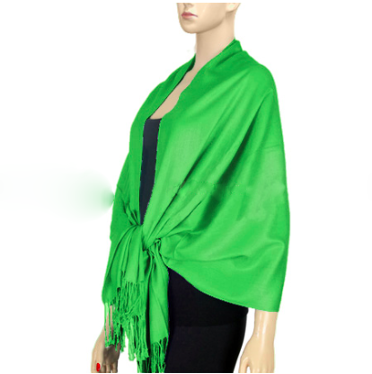 A photo of the Kelly Green Pashmina product