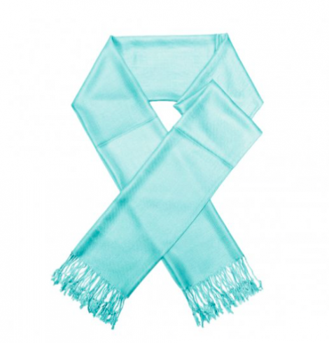 A photo of the Light Turquoise Pashmina product