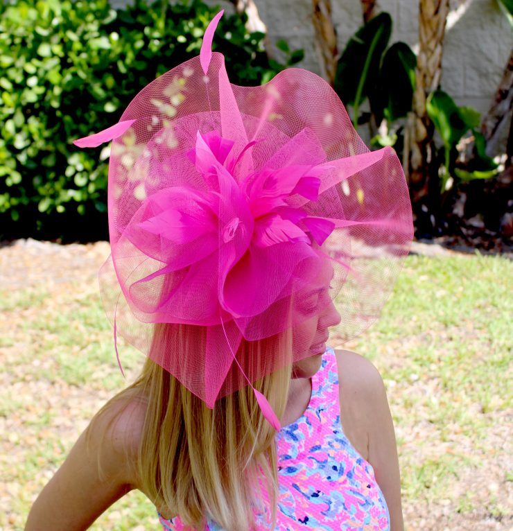 A photo of the Margot Fascinator Headband product