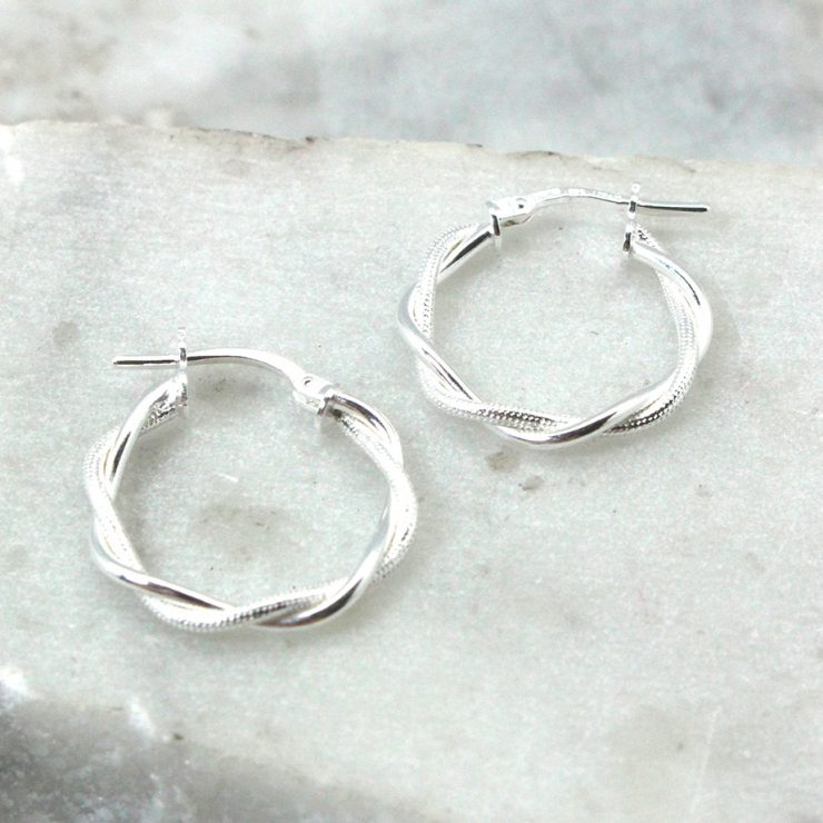 A photo of the Messina Hoop Earrings product
