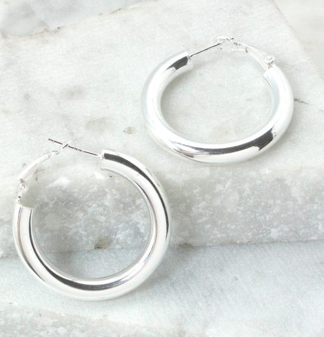 A photo of the Palermo Hoop Earrings product