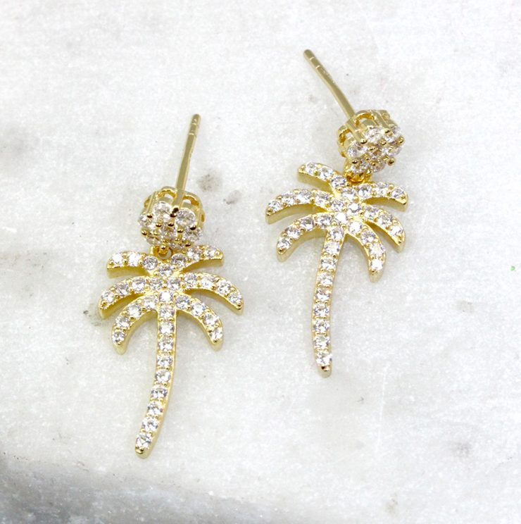 A photo of the Palm Post Earrings product