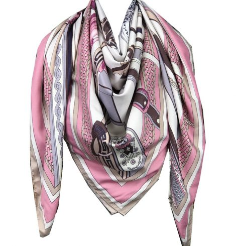 A photo of the Pretty in Pink Scarf product
