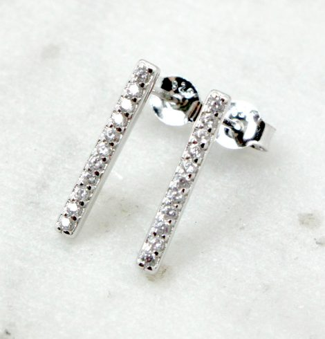 A photo of the Rhinestone Bar Earrings product