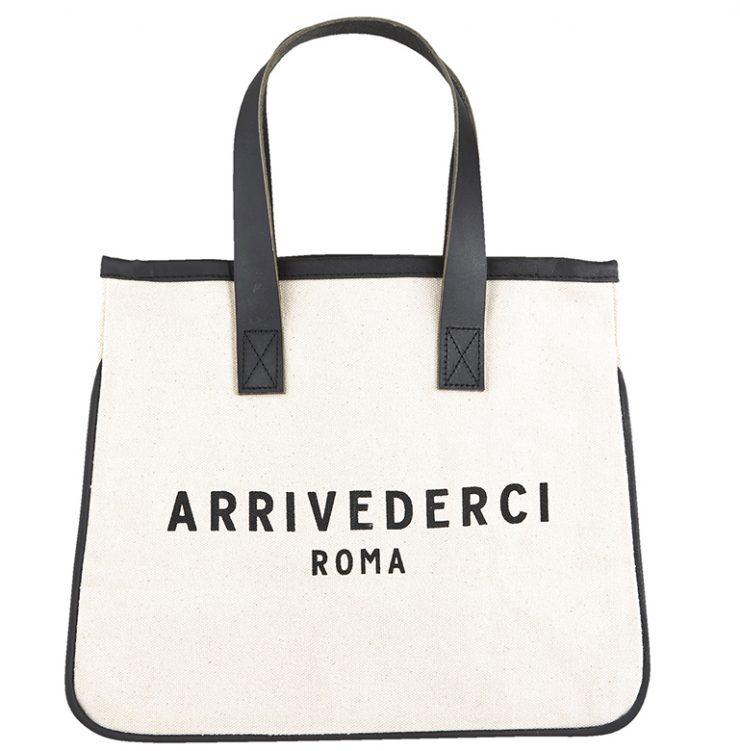 A photo of the Mini Arrivederci Canvas Tote product