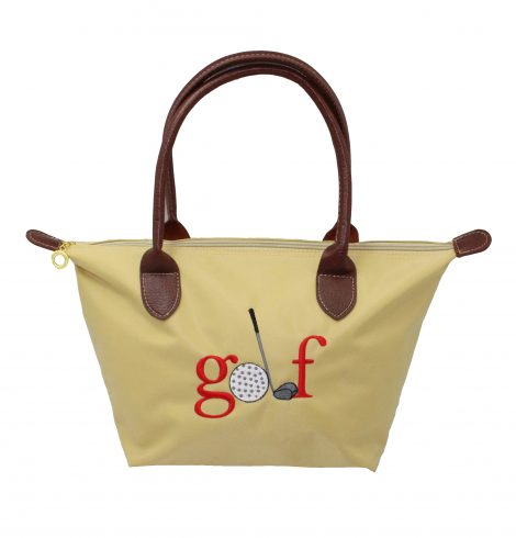 A photo of the Golf Nylon Tote In Beige product