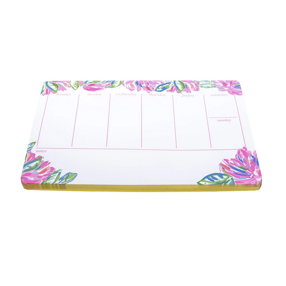 A photo of the Weekly Desk Pad in Totally Blossom product