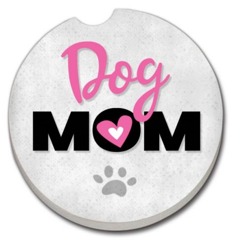 A photo of the Dog Mom Car Coaster product