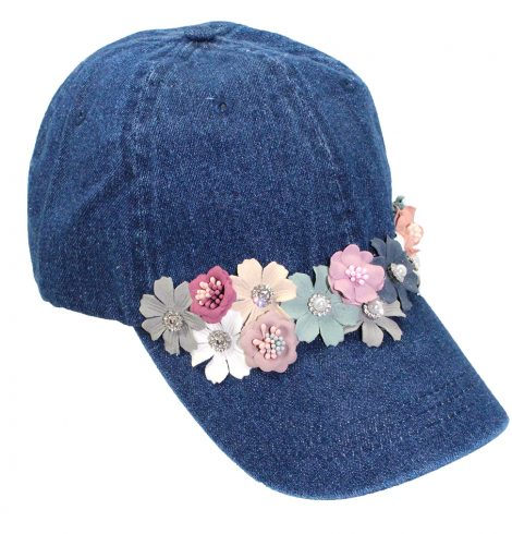 A photo of the Flora Denim Baseball Cap product