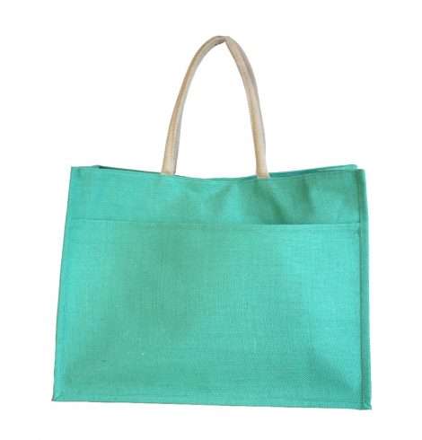 A photo of the Jute Pocket Tote in Kelly Green product