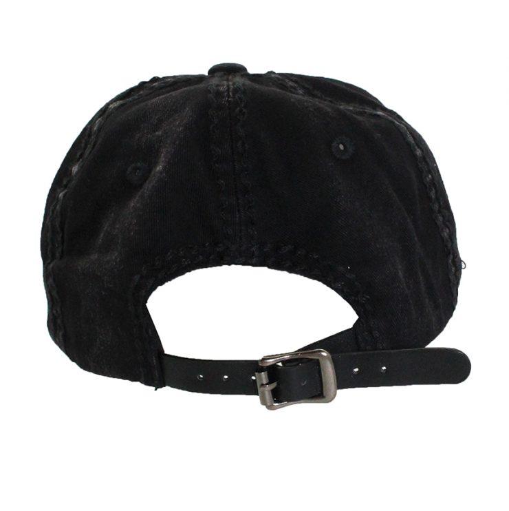A photo of the Lyla Rhinestone Baseball Cap in Black product
