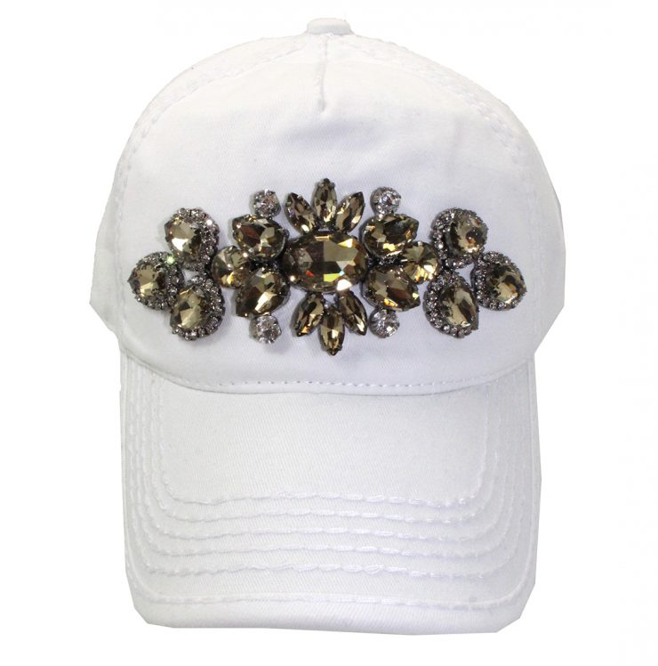 A photo of the Lilly Ponytail Baseball Cap in White product