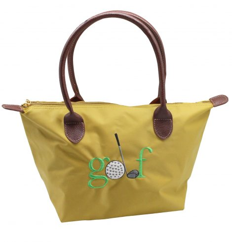 A photo of the Golf Nylon Tote In Mustard product