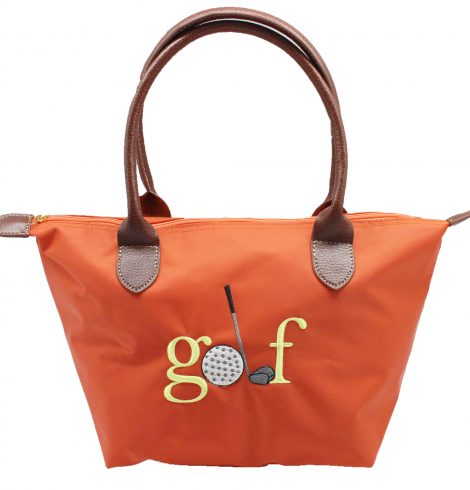 A photo of the Golf Nylon Tote In Orange product