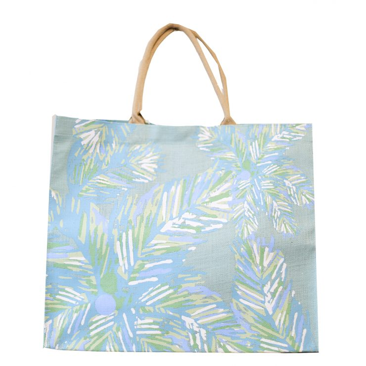 A photo of the Panama Carryall Tote in Blue Glass product