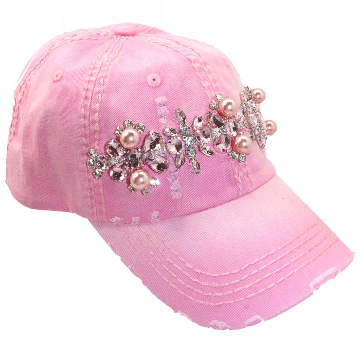 A photo of the Pearl Baseball Cap in Pink product