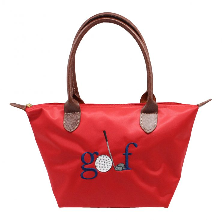 A photo of the Golf Nylon Tote In Red product
