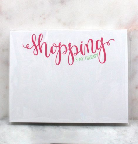 A photo of the Shopping is My Therapy Note Pad product