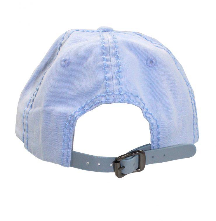 A photo of the Trish Rhinestone Baseball Cap in Light Blue product