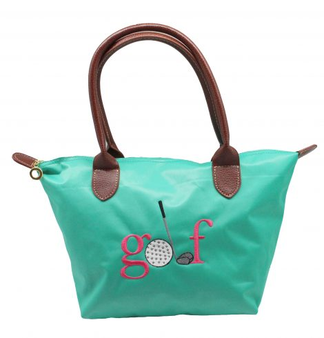 A photo of the Golf Nylon Tote In Turquoise product
