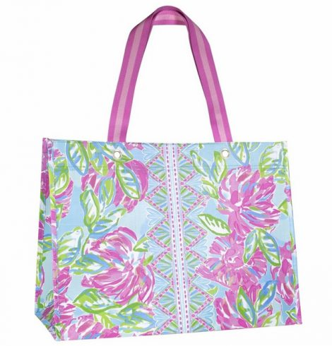 A photo of the Lilly Pullitzer XL Market Shopper in Totally Blossom product
