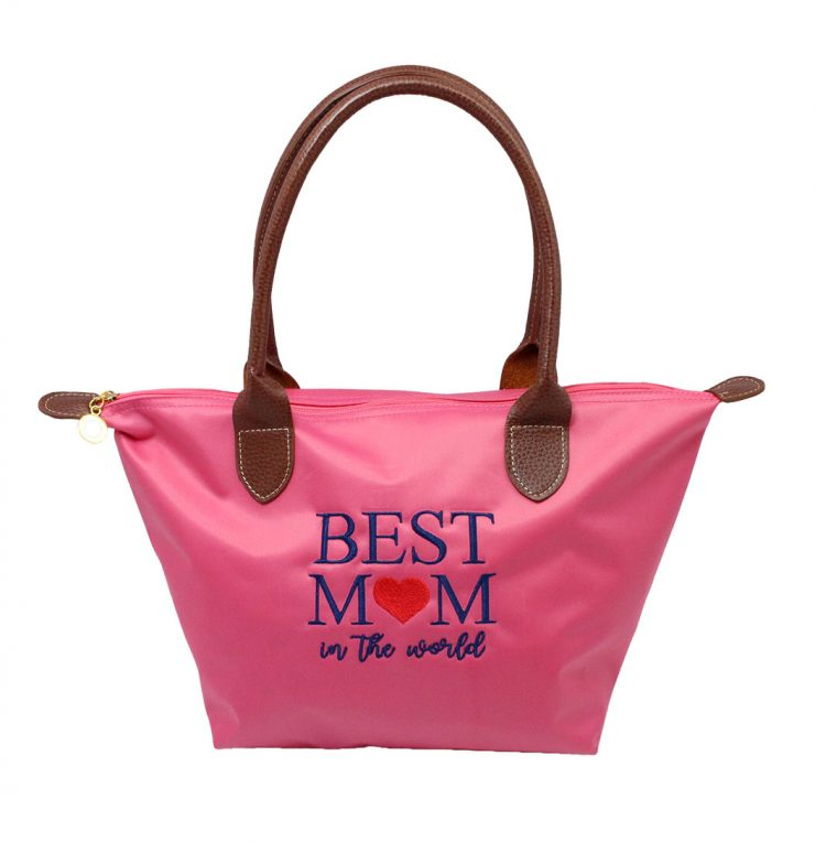 A photo of the Best Mom Tote In Pink product
